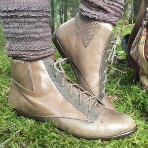 Vintage leather fairy shoes